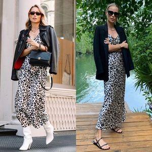 NWT Anine Bing Rosemary Leopard Slip Dress